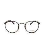 OLIVER PEOPLES(オリバーピープルズ)の古着「hartford-cv セル巻ボストンフレーム 眼鏡」