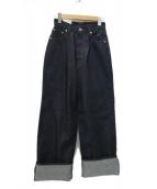 Graphpaper(グラフペーパー)の古着「12oz DENIM STRAIGHT PANTS デニム」 インディゴ