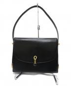 MORABITO(モラビト)の古着「ゴールド金具 ショルダーバッグ」|ブラック