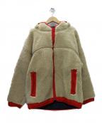 Comfy Outdoor Garment(コンフィーアウトドアガーメンツ)の古着「RABBIT HOODIE フリースジャケット」|ベージュ