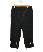 BLACK COMME des GARCONS(ブラックコムデギャルソン)の古着「裾クロップドパンツ」 ブラック