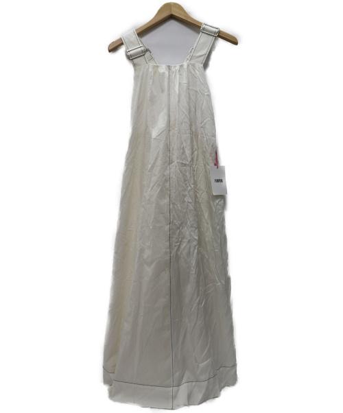 furfur(ファーファー)FURFUR (ファーファー) 異素材ミックスギャザーワンピース ホワイト サイズ:FREE 20SS RWFO201067の古着・服飾アイテム