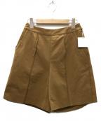 TODAYFUL(トゥデイフル)の古着「Smooth Stitch Halfpants パンツ」 ブラウン