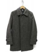 COMME des GARCONS HOMME DEUX(コムデギャルソンオムドゥ)の古着「ウールステンカラーコート」|グレー
