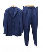 BEAMS F(ビームスエフ)の古着「canonico ネイビーソリッド セットアップ 3Bスーツ」|ネイビー