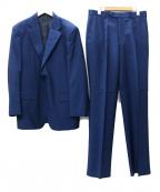 DORMEUIL(ドーメル)の古着「モヘアクロス 1タック 2Bスーツ」 ネイビー