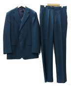 DORMEUIL(ドーメル)の古着「モヘアクロス 1タック 2Bスーツ」 グリーン