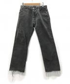 Maison Margiela 10(メゾンマルジェラ 10)の古着「Garment Dyed Cut Off Jeans デニム」 ブラック