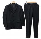 UNIVERSAL LANGUAGE(ユニバーサルランゲージ)の古着「REDA生地  3Bスーツ」|チャコールグレー