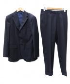 BEAMS F(ビームスエフ)の古着「ANGELICO ウールソリッド 3ボタン スーツ」|ネイビー