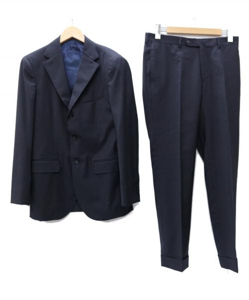 BEAMS F(ビームスエフ)BEAMS F (ビームスエフ) ANGELICO ウールソリッド 3ボタン スーツ ネイビー サイズ: 44-8R 21-17-1124-264の古着・服飾アイテム
