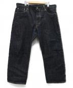ONI DENIM(オニデニム)の古着「鬼斑燃 セルビッチデニムパンツ」 インディゴ