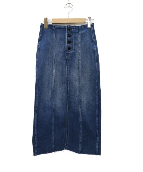 Denham(デンハム)Denham (デンハム) 70S LONG SKIRT SAFF デニムロングスカート インディゴ サイズ:W24 未使用品 70S LONG SKIRT SAFF 28200-3-17001の古着・服飾アイテム