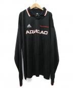 Gosha Rubchinskiy×adidas(ゴーシャラブチンスキー×アディダス)の古着「18ss adidas L/S Top ゲームシャツ」|ブラック