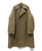 ORCIVAL(オーシバル)の古着「メモリータフタ インサレーション チェスターコート」|ブラウンベージュ