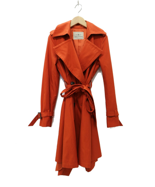 GRACE CONTINENTAL((グレースコンチネンタル)GRACE CONTINENTAL (グレースコンチネンタル) トレンチコート オレンジ サイズ:38の古着・服飾アイテム