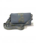ECCO(エコー)の古着「SP3ショルダーウォレット 財布」 スカイブルー