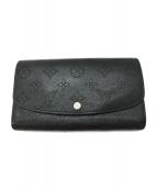 LOUIS VUITTON(ルイヴィトン)の古着「モノグラム マヒナ ポルトフォイユ イリス 財布」|ブラック