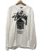 stussy(ステューシー)の古着「DSM World Tour Longsleeve Tシャツ」 ホワイト
