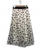 SHE TOKYO(シートーキョー)の古着「クラシックドットスカート」|ホワイト