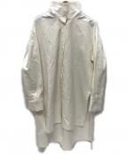 CABAN(キャバン)の古着「コットンニドムツイル ハイネックロングシャツ」 ホワイト