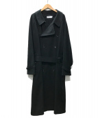 ()の古着「Double Cloth Peach Trench Coat」|ブラック