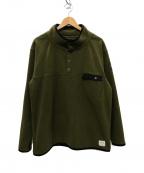DENIM BY VANQUISH&FRAGMENT(デニムバイヴァンキッシュ&フラグメント)の古着「Icon Half Snap Fleece Pullover」|オリーブ