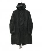 BLACK COMME des GARCONS(ブラックコムデギャルソン)の古着「ミリタリー モッズコート」|ブラック
