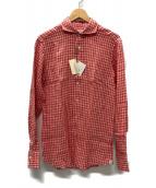ANGLAIS(アングレー)の古着「ギンガムチェック リネンシャツ」|レッド