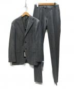 RING JACKET(リングジャケット)の古着「ストライプ セットアップ 3Bスーツ」 グレー