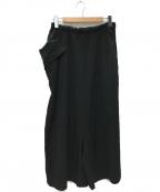 Y's(ワイズ)の古着「Pants Skirt イージースカートパンツ」 ブラック