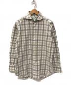 finamore(フィナモレ)の古着「チェックシャツ」 グレー