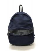 MAKR CARRY GOODS(メーカーキャリーグッズ)の古着「Round Backpack リュック」|ネイビー