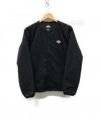 DANTON()の古着「プリマロフトノーカラージャケット」|ブラック