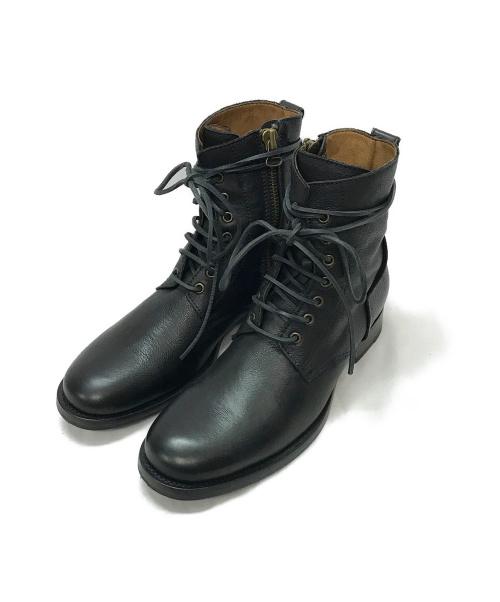 BUTTERO(ブッテロ)BUTTERO (ブッテロ) B4374 サイドジップレースアップブーツ ブラック サイズ:39 B4374の古着・服飾アイテム