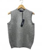 Drumohr(ドルモア)の古着「シャギーニットベスト」|グレー