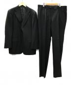 DORMEUIL(ドーメル)の古着「KIBOU311 2B 1タックセットアップ スーツ」 ブラック