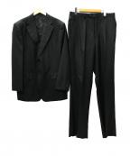 DORMEUIL(ドーメル)の古着「翡翠2B 1タックセットアップ スーツ」 ブラック
