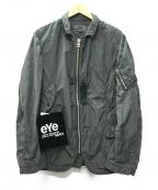 eYe COMME des GARCONS JUNYAWATANABE MAN(アイコムデギャルソンジュンヤワタナベマン)の古着「21SS エステルツイル製品染めスプリングジャケット」 SAGE GREEN