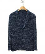 Altea(アルテア)の古着「ニット2Bジャケット」|ネイビー