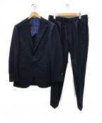 BEAMS F(ビームスエフ)の古着「3BOTTONS SHADOW CHECK スーツ」|ネイビー