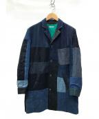 HOLLYWOOD RANCH MARKET(ハリウッドランチマーケッド)の古着「DENIM QUILT SHOP COAT 再構築コート」|インディゴ