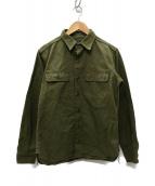 ()の古着「US ARMYヘリンボーン レーザー加工シャツ」|オリーブ