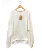 L'Appartement  × REMI RELIEF(アパルトモン × レミレリーフ)の古着「Side Slit Long T-sh スウェット Tシャツ」 ホワイト