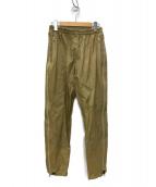 UNUSED(アンユーズド)の古着「止水ZIP ナイロンパンツ」|ベージュ