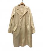 ms braque(エムズ ブラック)の古着「キナリ ダブルコート」 アイボリー