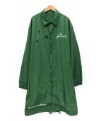 ()の古着「ロングコーチジャケット」|グリーン