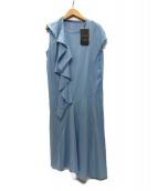 ()の古着「ドレープジャージーワンピース」|ブルー