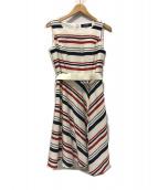 ()の古着「Stripes Dress ボーダーワンピース」|トリコロールカラー
