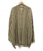 GALLEGO DESPORTES(ギャレゴデスポート)の古着「ラージバンドカラーシャツ」|イエロー
